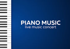 Piano concert poster design. Live music concert. Piano keys. Vector illustration. Royalty Free Stock Image