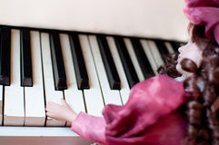 Piano concerto. Color tones and piano concerto royalty free stock image