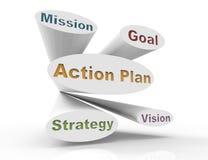 Piano-concetto di azione illustrazione vettoriale