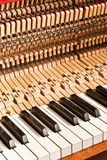 Piano construction Stock Image