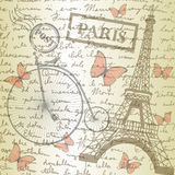Piano d'appoggio con lo schizzo carta e della bicicletta Fotografia Stock