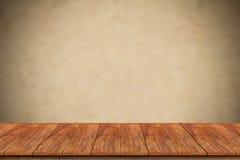 Piano d'appoggio di legno fotografia stock libera da diritti