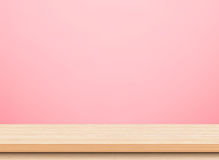 Piano d'appoggio di legno leggero vuoto Immagini Stock