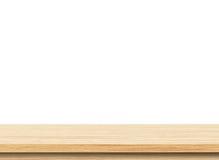 Piano d'appoggio di legno leggero vuoto Immagini Stock Libere da Diritti