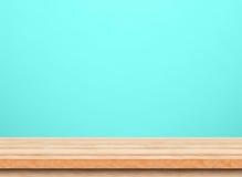 Piano d'appoggio di legno marrone vuoto Fotografia Stock Libera da Diritti