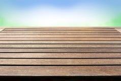 Piano d'appoggio di legno rustico, desktop Fotografia Stock