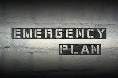 Piano d'emergenza gr immagine stock