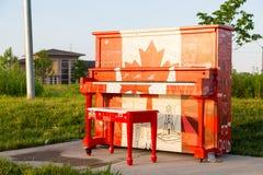 Piano da bandeira de Canadá Foto de Stock Royalty Free