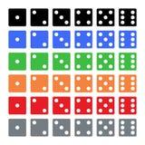 Piano, dadi d6 Sei variazioni di colore illustrazione vettoriale