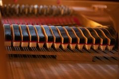 Piano dampers royalty free stock photos