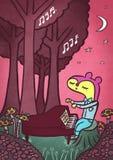Piano dans les bois illustration stock
