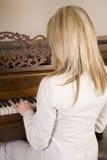 Piano de Backview Imagem de Stock Royalty Free