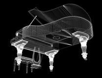 Piano de cauda antigo com trajeto Foto de Stock Royalty Free