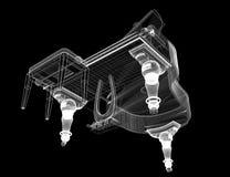 Piano de cauda antigo com trajeto Imagens de Stock Royalty Free