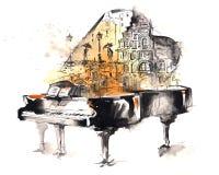 Piano de cola Imagen de archivo