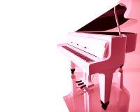 Piano de cola rosado Fotos de archivo libres de regalías
