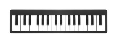Piano de Digital sur un blanc images libres de droits