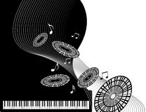 piano de musique Photos stock