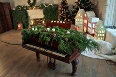 Piano de Noël Photos libres de droits