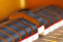 Piano de plan rapproché d'amortisseurs de piano Photos libres de droits