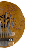 Piano de pouce de Kalimba de noix de coco Photographie stock libre de droits