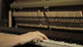 piano del gioco Chiuda su delle mani femminili che giocano il piano Dita sul piano video d archivio