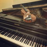 Piano del violín Fotografía de archivo