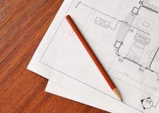 Piano dell'architetto Immagini Stock Libere da Diritti