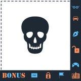 Piano dell'icona del cranio royalty illustrazione gratis