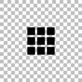 Piano dell'icona della particella elementare royalty illustrazione gratis