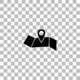 Piano dell'icona di posizione royalty illustrazione gratis