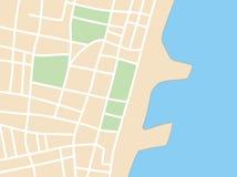 Piano della città con la costa Royalty Illustrazione gratis