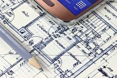 Piano della costruzione Immagine Stock