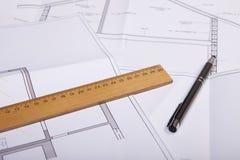 Piano della costruzione della Camera Fotografia Stock Libera da Diritti