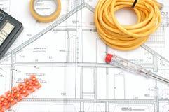 Piano della costruzione della Camera Fotografia Stock