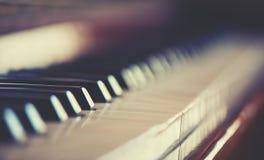 Piano della tastiera Fotografie Stock Libere da Diritti