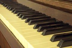 Piano della tastiera, vista laterale dello strumento di musical dello strumento Immagine Stock
