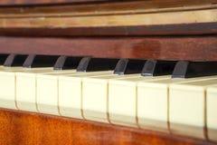 Piano della tastiera, vista laterale dello strumento di musical dello strumento Fotografie Stock