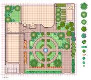Piano della terra del giardino Fotografie Stock Libere da Diritti