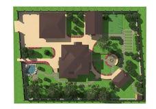 Piano della terra del giardino Fotografia Stock
