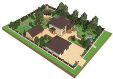 Piano della terra del giardino Fotografia Stock Libera da Diritti