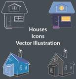 Piano delle Camere ed illustrazione 3D - uso di logo o delle icone - web, apps, colorati Fotografie Stock Libere da Diritti