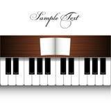Piano design. A piano design on wite Stock Photos
