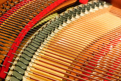 Piano detail string Stock Photography