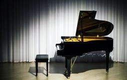 Piano di concerto classico Immagine Stock