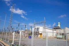 Piano di corrente elettrica della turbina a gas immagine stock