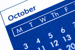Piano di ottobre Immagini Stock