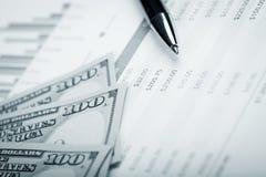 Piano di prestito e del dollaro Immagini Stock