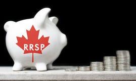 Piano di risparmio di pensionamento registrato del canadese Fotografie Stock Libere da Diritti