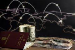 piano di risparmio per il viaggio internazionale ad Europa immagine stock libera da diritti